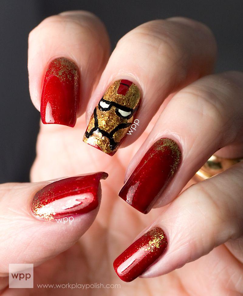 Avengers Nail Art Stickers: Iron Man Nail Art @Anna Totten Abramz We Would Need To