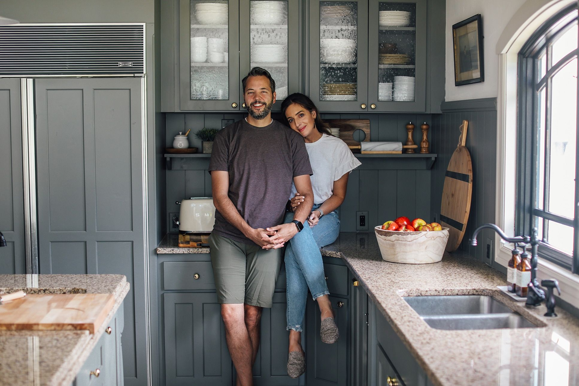 How The Duo Behind Chris Loves Julia Renovated Their Kitchen For Only 1 000 Chris Loves Julia Modern Cottage Updated Kitchen