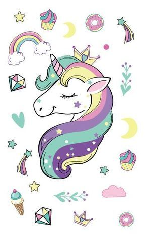 Unicorn Tattoo Stickers #easyupdo