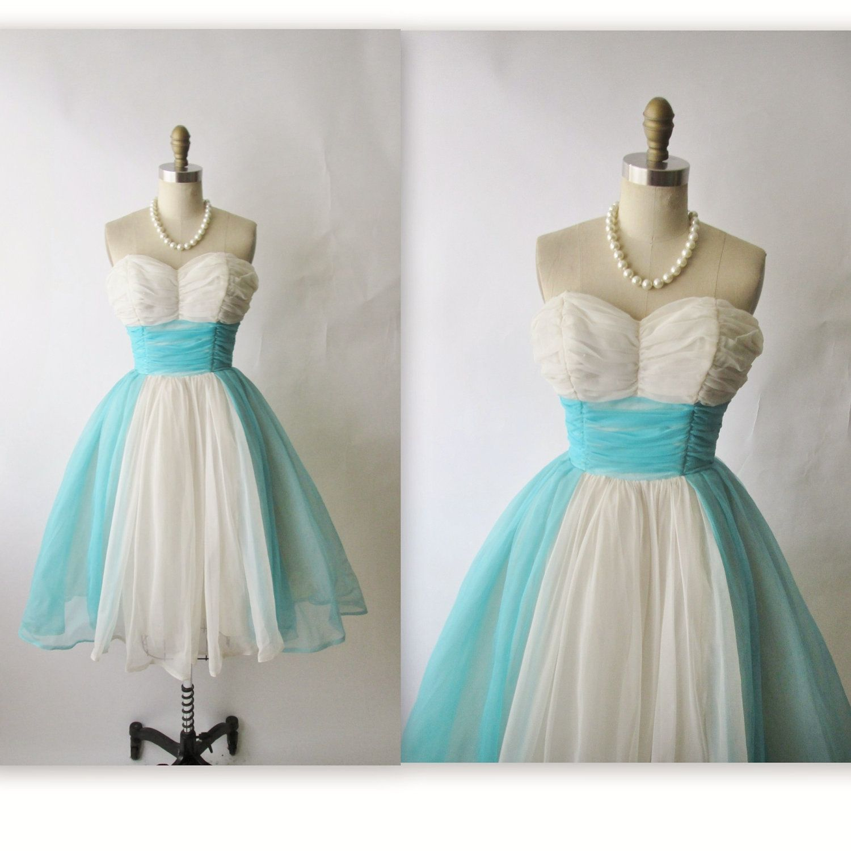 Turquoise wedding dresses  us Chiffon Wedding Dress  Vintage us Strapless Ruched