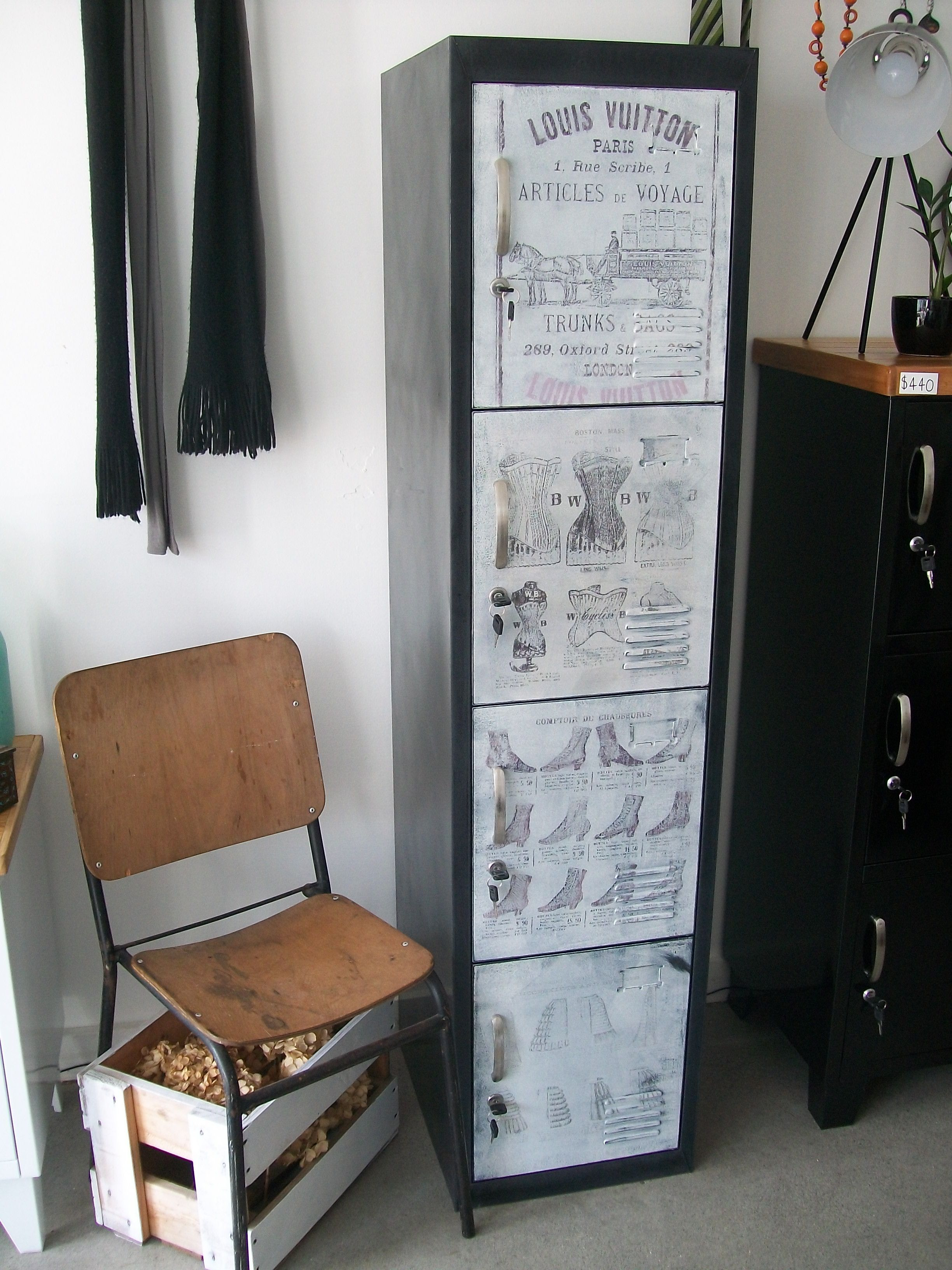 French industrial 4 Door Locker with Ink printed doors. & French industrial 4 Door Locker with Ink printed doors. | NZ Locker ...