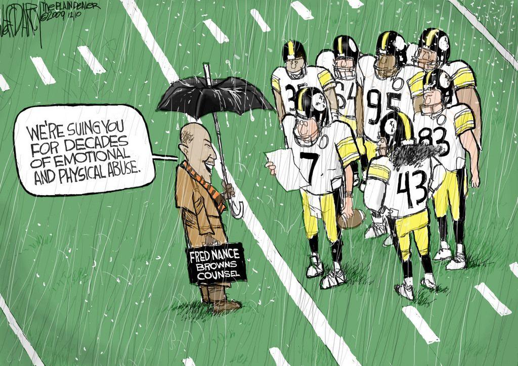 Browns vs. Steelers Editorial Cartoon for Dec.10