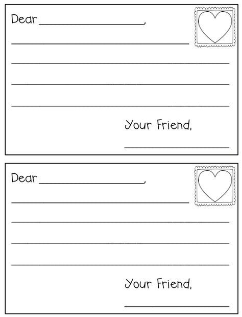Letter Writing Template  Writing Hooks    Letter