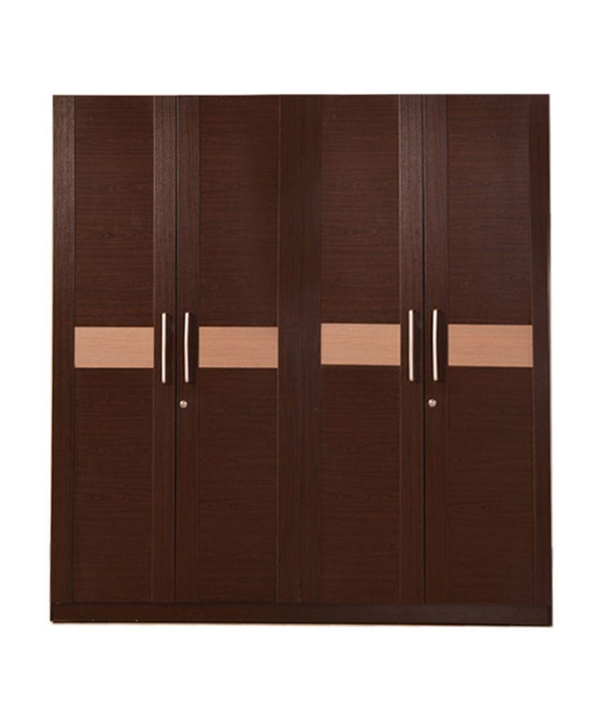 HomeTown Magna 4 Door Wardrobe in Walnut  sc 1 st  Pinterest & HomeTown Magna 4 Door Wardrobe in Walnut_600404074001 http://www ... pezcame.com