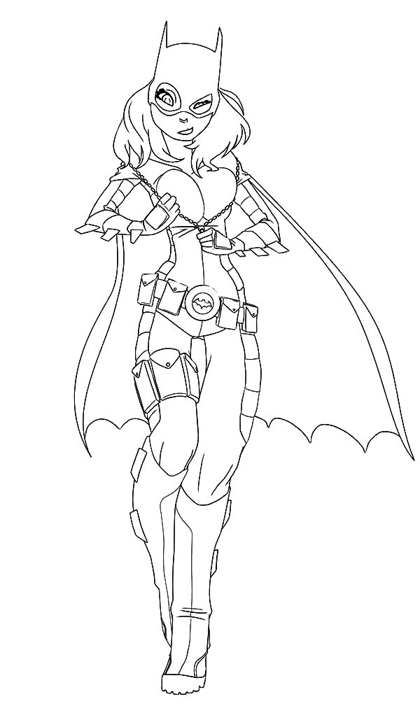 Pin On Batgirl Coloring Pages