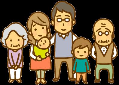 その他 社員や家族を大切にするための取組のイラスト 老人 イラスト
