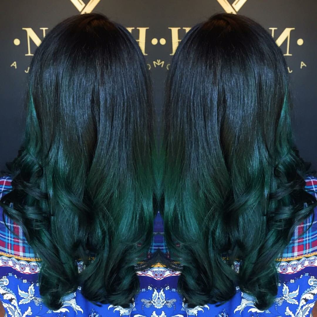 Blackteal balayage  Hair Dous  Pinterest  Pissed Balayage and
