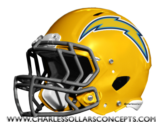 San Diego Chargers Helmet Uniform Logo Concepts The Penalty Flag Nfl Football Helmets Chargers Football Football Helmets