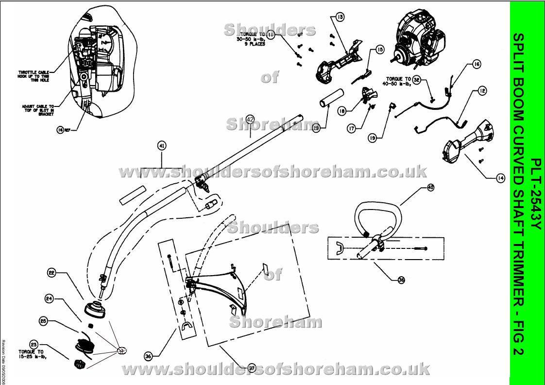 ryobi plt 2543y spare parts diagrams [ 1122 x 792 Pixel ]