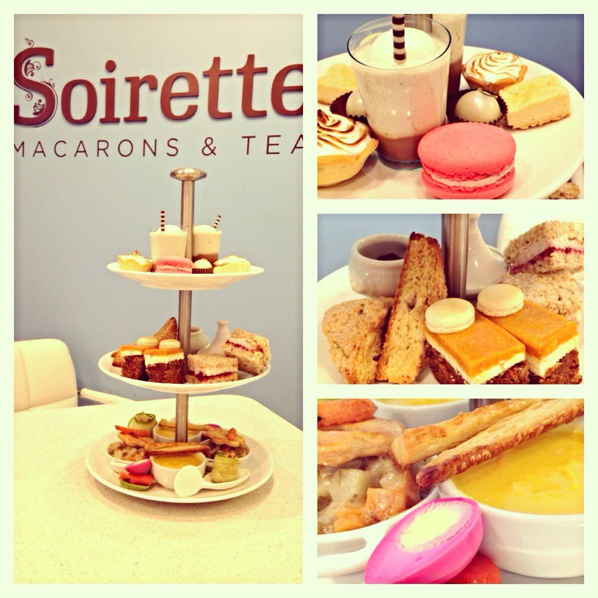 A delicious high tea, set for two :)  #Soirette #macaron #hightea #Vancouver