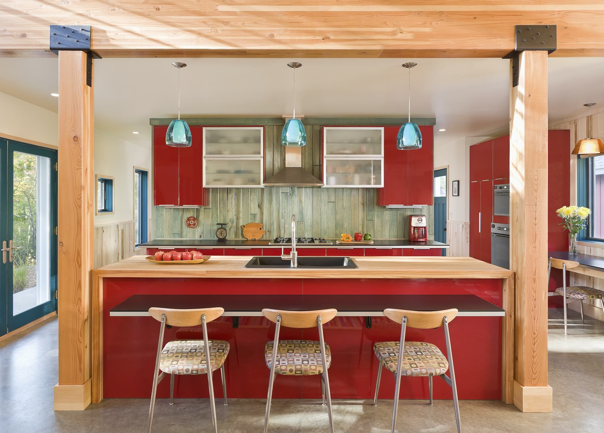Trendy Style For Red Kitchen Design Ideas With Rectangular Kitchen Hidup Sehat Hidup