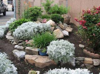 Superbe Simple Rock Garden Design