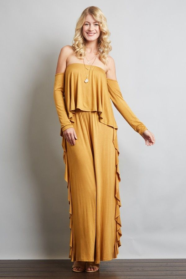 434f8de8cb3 SIDE RUFFLE PANTS TUBE TOP JUMPSUIT