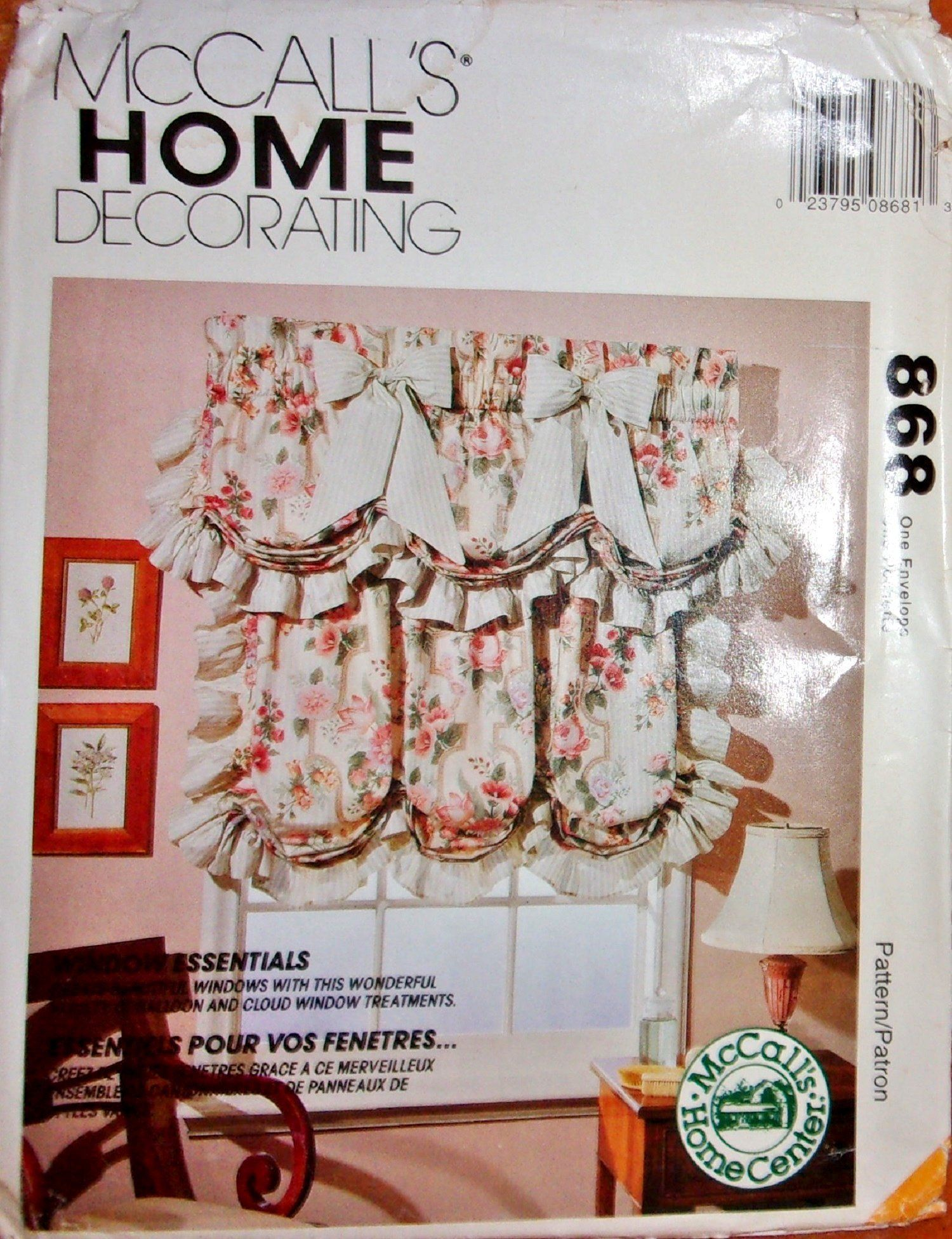 Vtg Mccall S 868 6905 Craft Sewing Pattern Cloud Valance Balloon Curtain W Home Decorator Craft Instruct Crafts Sewing Patterns Balloon Curtains Fabric Decor