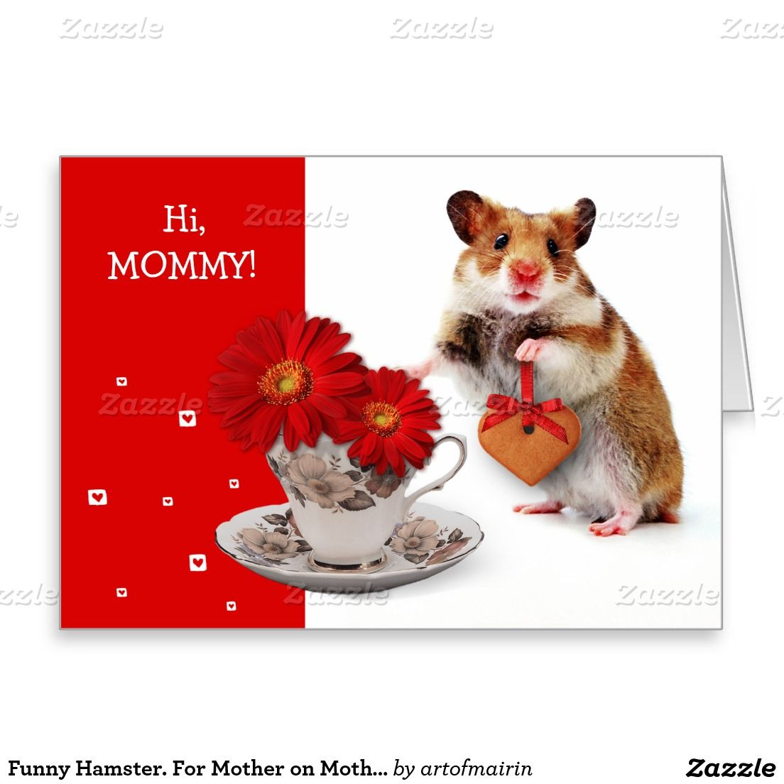 Funny Hamster For Mother On Mothers Day Cards Motherhood