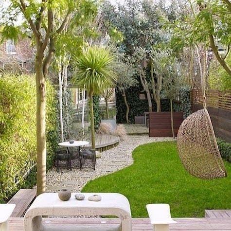 Un petit jardin au mobilier original | Des jardins comme à la ...