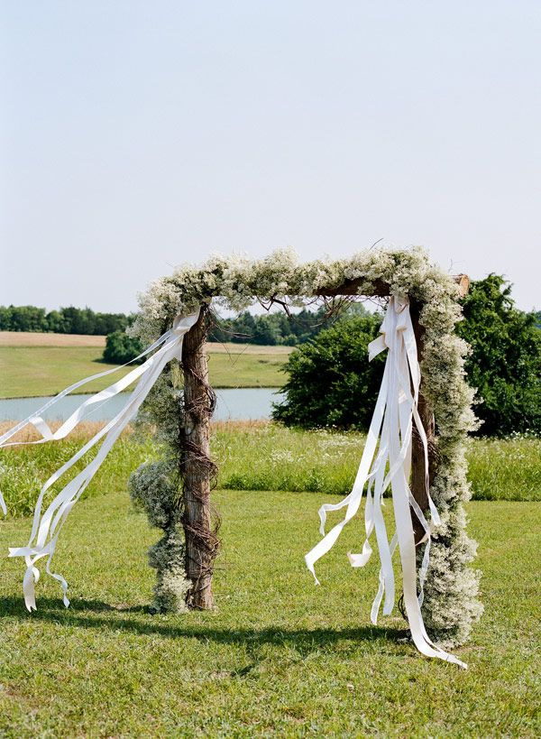 Southern Weddings Alabama Wedding Steven Devries Outdoor Chapel Baby S Breath Ribbon Altar Ideas Ceremony