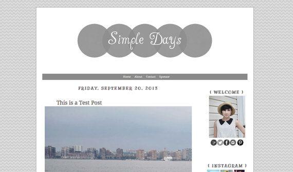 premade blogger template simple days web design blog design