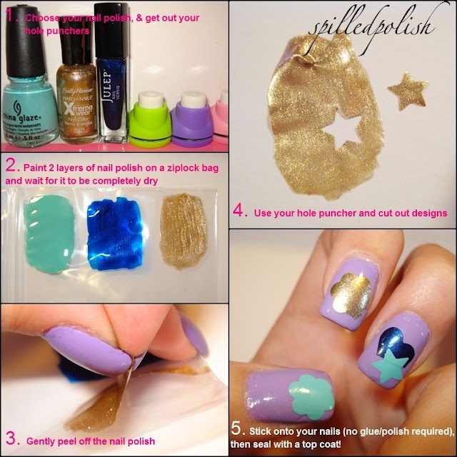 Spilledpolish Tutorial Nail Stickers Diy Nails Diy Nails Stickers Nail Art Diy