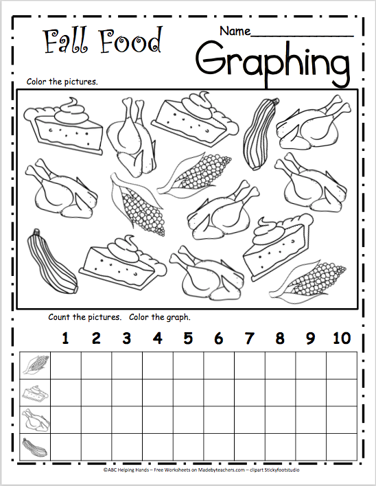 Fall Food Graph | work | Kindergarten math worksheets ...