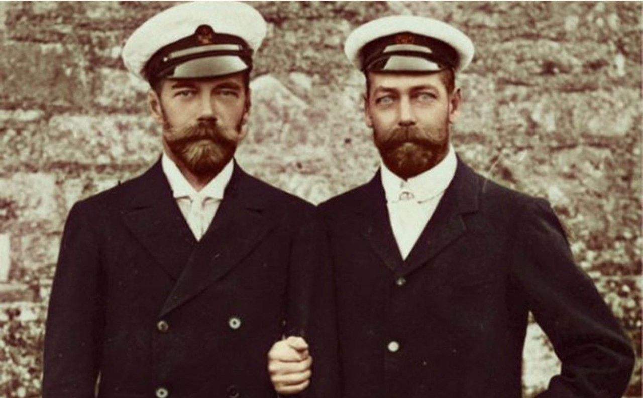 New 5x7 Photo Czarewitch Alexei Czar Nicholas II of Russia with his son