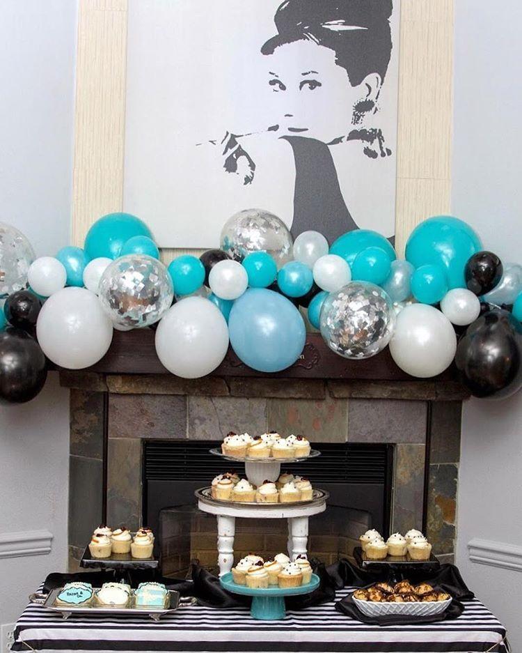 Breakfast At Tiffany's Balloon Garland Backdrop. Visit The