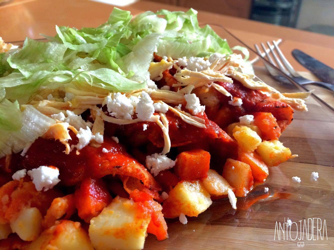 Enchiladas Mineras de Guanajuato  Receta en 2019  Plato Fuerte  Food Enchiladas y Chicken Recipes