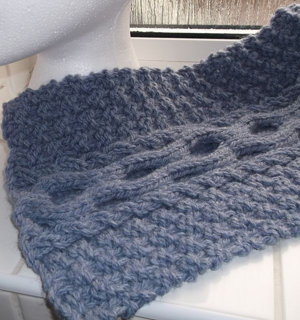 Free Pattern: Cable and Moss Stitch Scarf by Brian Smith ...