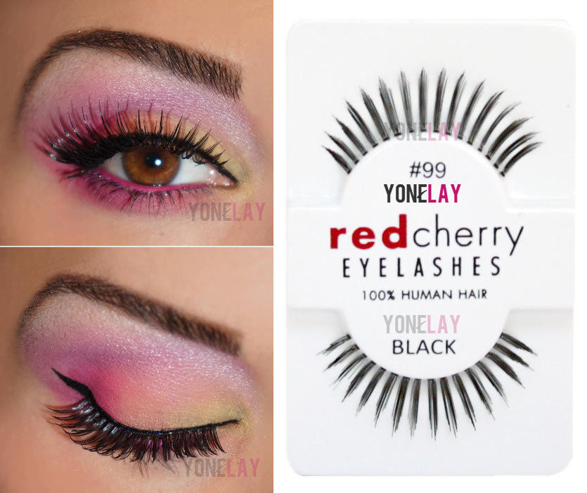 b8137a492eb Lot 6 Pairs Red Cherry #99 False Eyelashes Fake Eye Lashes Human Hair Strip  Lash