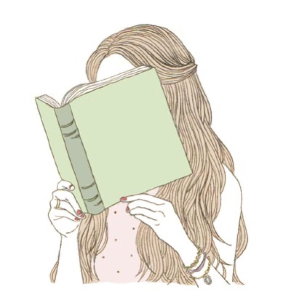 Reading Girls Cartoon Art Girly Art Book Drawing