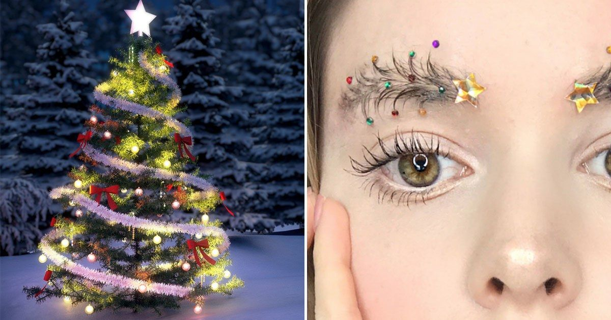 Christmas Tree Eyebrows.Christmas Tree Brows Are Enough To Turn Me Into The Grinch