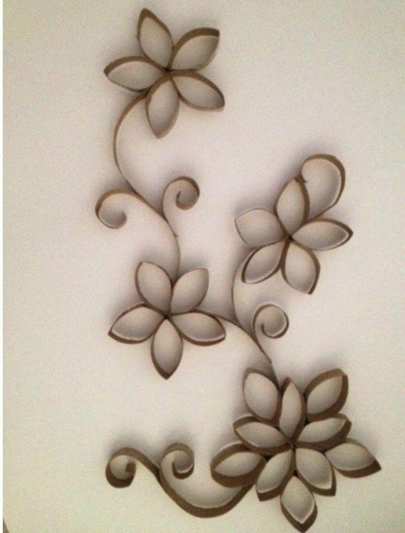 Flores de tubito del papel del ba o buscar con google for Papel de pared para bano