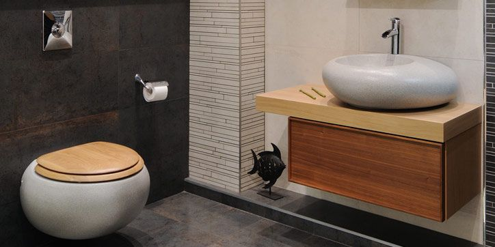 Luxe toilet interior design guest toilets pinterest badkamer for Commode design luxe