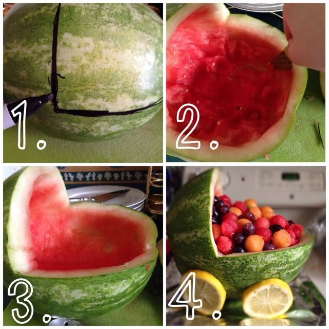 How To: Watermelon Baby Carriage! So Cute For Baby Showers  Party Ideas DIY