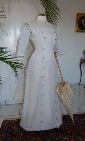 antikes Kleid, antike Kleidung, Mode um 1910, antikes ...