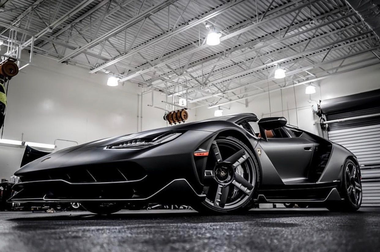 Lamborghini Centenario Roadster Made Out Of Matte Dark Green Carbon
