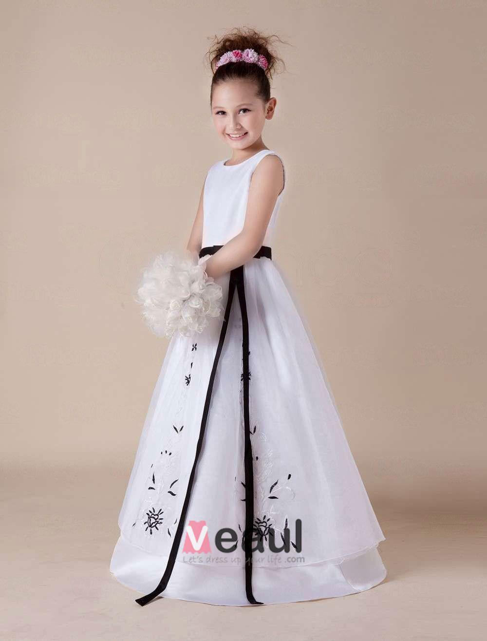 Robe de ceremonie blanche petite fille