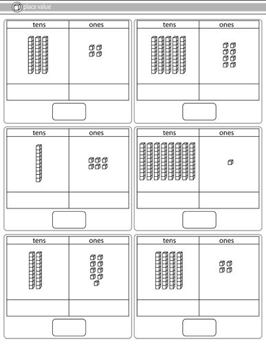 Freebie Tens Ones Place Value Worksheets First Grade Math