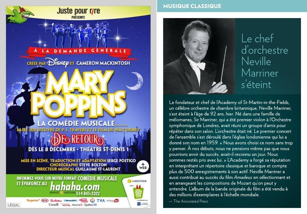 Le chef d'orchestre Neville Marriner s'éteint - La Presse+