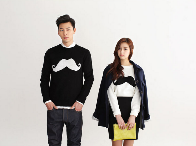 #다홍 #니트 #티  #dahong #knit 콧수염 #mustache