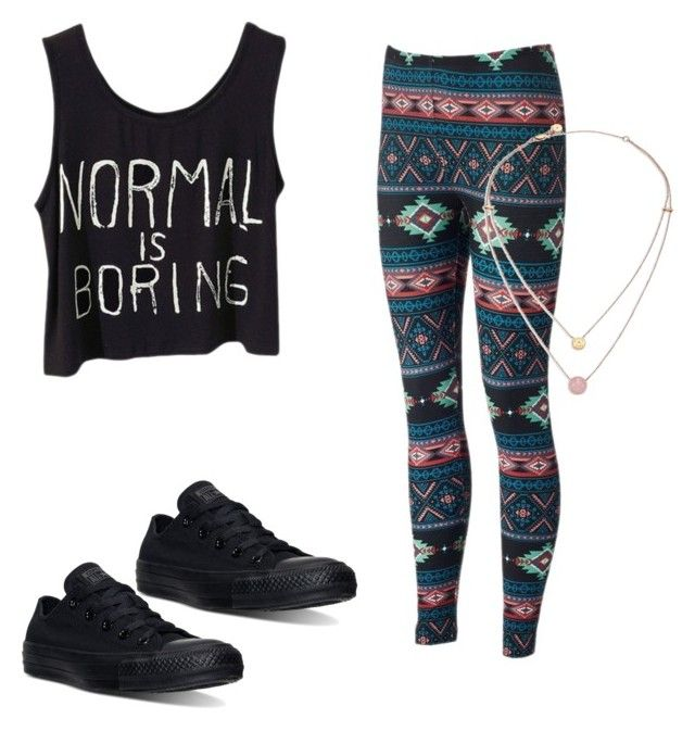 """""""Untitled #77"""" by kennyleeann ❤ liked on Polyvore featuring Converse and Michael Kors"""