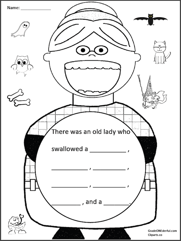 Retell Literacy Center Activity – There Was An Old Lady Who Swallowed a Fly