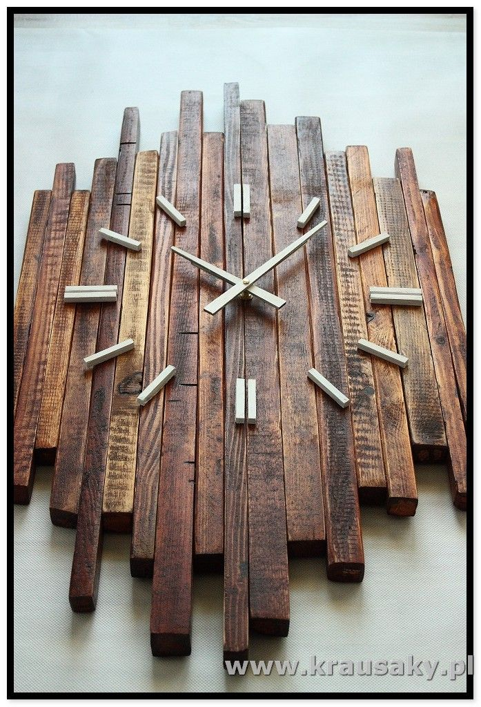 Zegar Ragged Vintage Diy Wood Crafts Wood