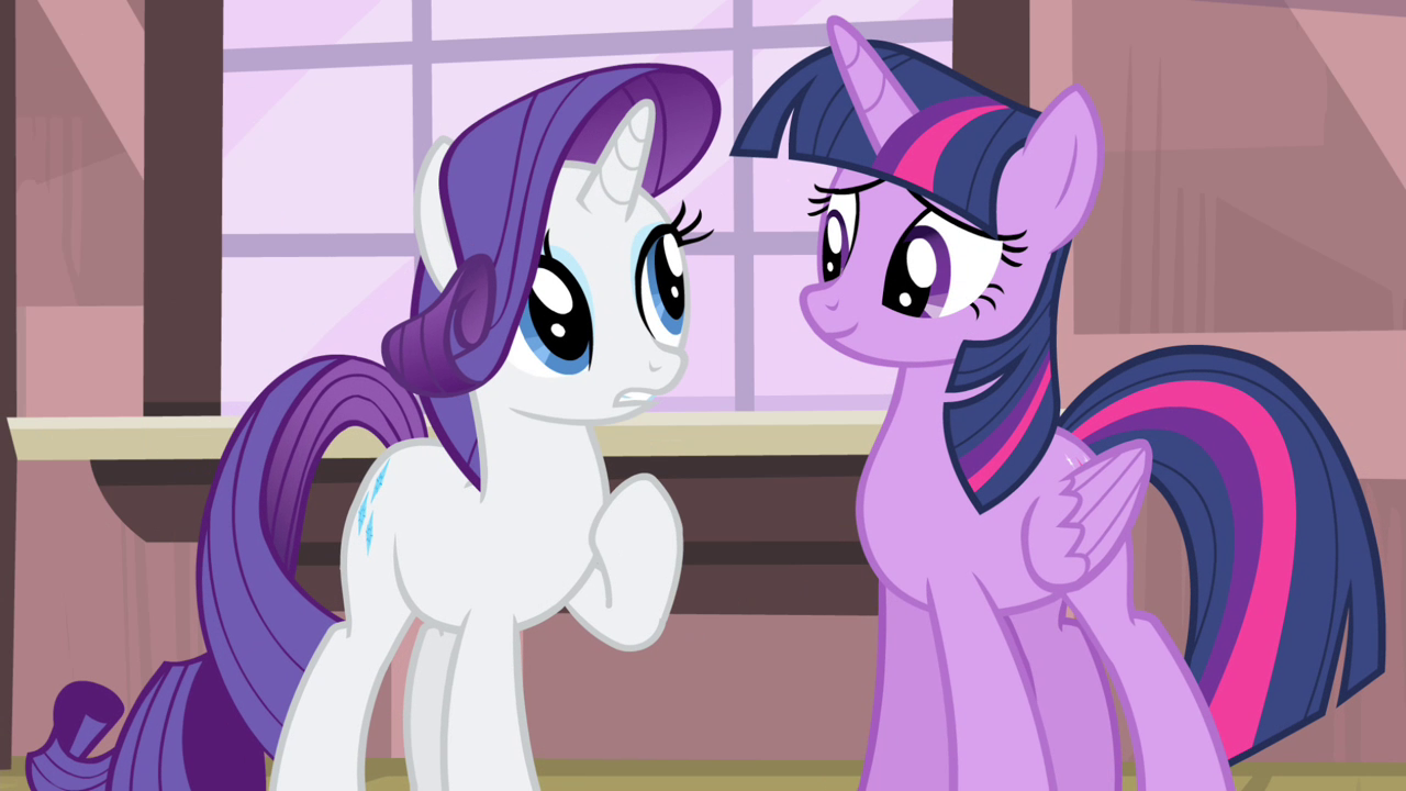 Rarity With Twilight Sparkle Mlp My Little Pony Friendship Is