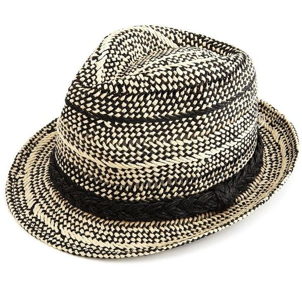 Woven Straw Fedora with Braid Band
