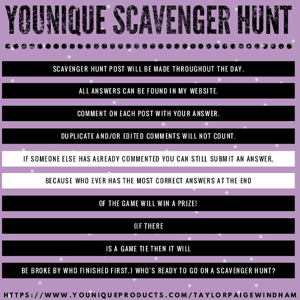 Younique Makeup Scavenger Hunt Younique party games