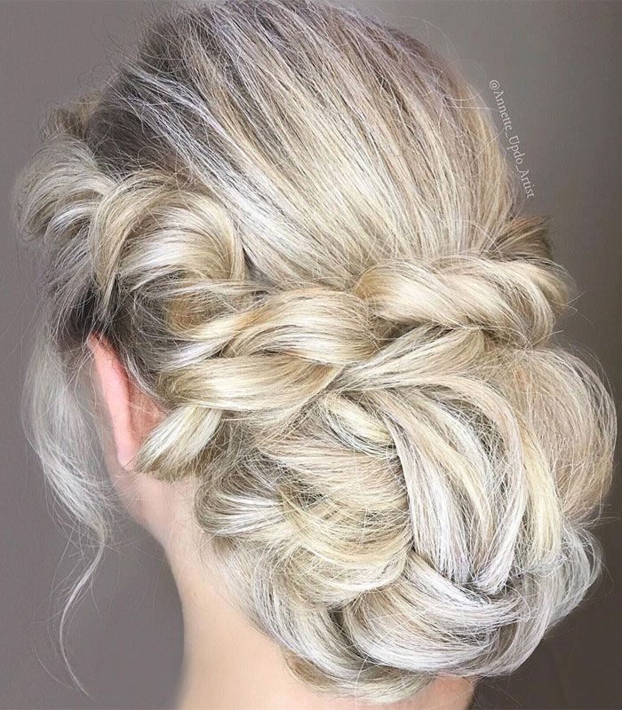 Beautiful Updo Wedding Hairstyle To Inspire You: Beautiful Messy Wedding Hair Updo To Inspire You