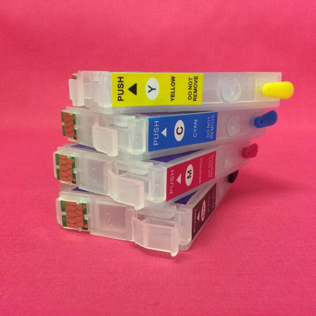 Refillable Ink Cartridges For Epson Xp 255 257 352 355 452 455