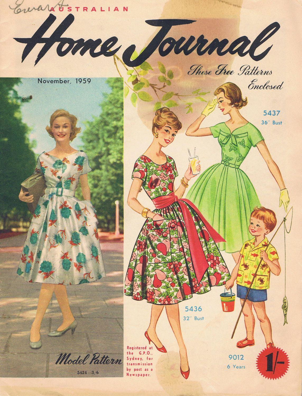 Vintage Sewing Patterns 1959  Fashion Magazine