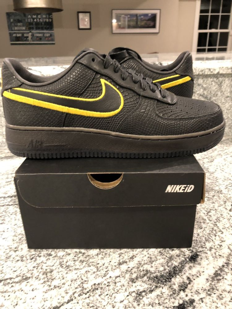 outlet store 89496 62e24 Nike Air Force 1 Low ID Kobe Black Mamba Monent Jersey Retirement Size 11   fashion  clothing  shoes  accessories  mensshoes  athleticshoes (ebay link)